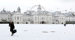 © under license to London News Pictures.  17 Dec 2010.  A snowy scene across Horseguards today (Fri) in central London. Picture credit should read Alison Baskerville/London News Pictures