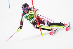 January 7, 2018 - Kranjska Gora, Gorenjska, Slovenia - Frida Hansdotter of Sweden competes on course during the Slalom race at the 54th Golden Fox FIS World Cup in Kranjska Gora, Slovenia on January 7, 2018. (Credit Image: © Rok Rakun/Pacific Press via ZUMA Wire)
