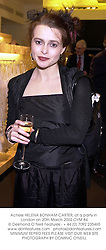 Actress HELENA BONHAM-CARTER, at a party in London on 20th March 2002.OYM 84