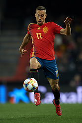 March 23, 2019 - Valencia, Valencia, Spain - Sergio Canales of Spain in action during the 2020 UEFA European Championships group F qualifying match between Spain and Norway at Estadi de Mestalla on March 23, 2019 in Valencia, Spain. (Credit Image: © Jose Breton/NurPhoto via ZUMA Press)