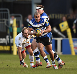 Bath Rugby centre Jonathan Joseph in Aviva Premiership action against Wasps at the Recreation Ground - Photo mandatory by-line: Paul Knight/JMP - Mobile: 07966 386802 - 10/01/2015 - SPORT - Rugby - Bath - The Recreation Ground - Bath Rugby v Wasps - Aviva Premiership