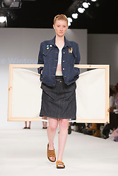 © Licensed to London News Pictures. 31/05/2015. London, UK. Collection by Charlotte Wintour. Fashion show of the University of Salford at Graduate Fashion Week 2015. Graduate Fashion Week takes place from 30 May to 2 June 2015 at the Old Truman Brewery, Brick Lane. Photo credit : Bettina Strenske/LNP
