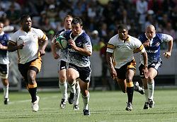 Paul Bosch makes a break for the try line during the Festival of Rugby match between The Boland Cavaliers and The Stormers held at The Cape Town Stadium (formerly Green Point Stadium) in Cape Town, South Africa on 6 February 2010.  This is the first match/event to be held at the new stadium which was purpose built to host matches during the FIFA World Cup South Africa 2010.Photo by: Ron Gaunt/SPORTZPICS