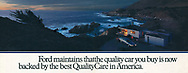 Ford, Quality Care, Big Sur, California