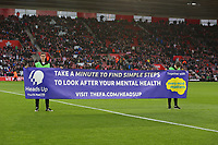 Football - 2019 / 2020 Emirates FA Cup - Third Round: Southampton vs. Huddersfield Town<br /> <br /> A Take a minute banner before kick off to promote mens health before kick off at St Mary's Stadium Southampton <br /> <br /> COLORSPORT/SHAUN BOGGUST
