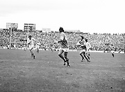 Roscommon catches the ball as Armagh player close in on him during the All Ireland Senior Gaelic Football Semi Final Replay Roscommon v Armagh in Croke Park on the 28th August 1977. Armagh 0-15 Roscommon 0-14.