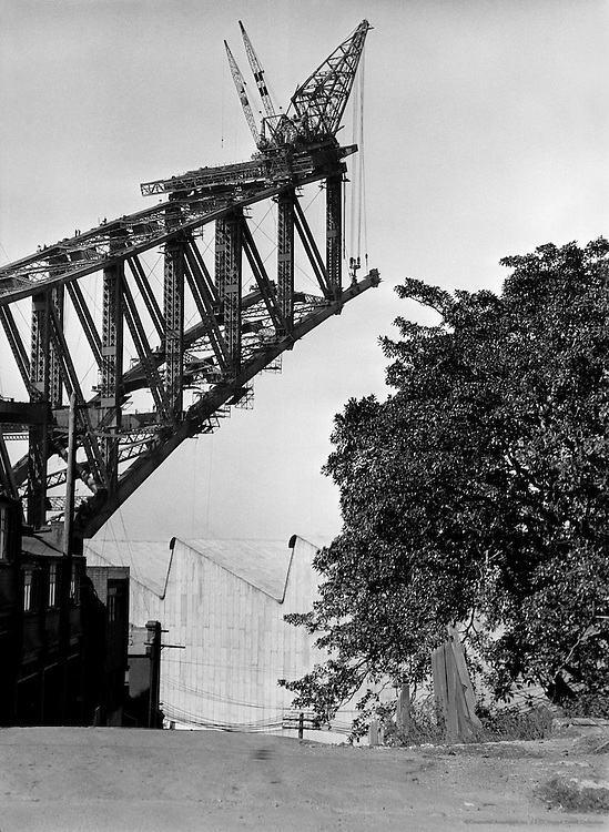 New North Shore Bridge Under Construction, Sydney, Australia,1930