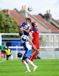 Bristol Rovers' Tom Lockyer heads clear - Photo mandatory by-line: Neil Brookman - Mobile: 07966 386802 23/08/2014 - SPORT - FOOTBALL - Bristol - Memorial Stadium - Bristol Rovers v AFC Telford - Vanarama Football Conference