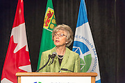 The Right Honourable Beverley McLachlin, P.C., Chief Justice of Canada. News conference, Canadian Bar Association 2013 Conference, Saskatoon, Saskatchewan.
