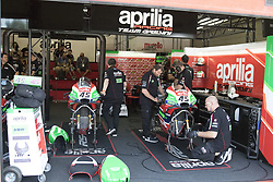 June 3, 2018 - Mugello, Italy, Italy - Box Aprilia during Race MotoGP  at the Mugello International Cuircuit for the sixth round of MotoGP World Championship Gran Premio d'Italia Oakley on June 3, 2018 in Scarperia, Italy  (Credit Image: © Fabio Averna/NurPhoto via ZUMA Press)
