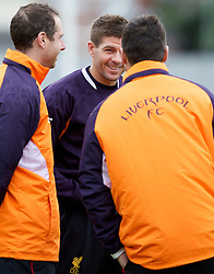 LIVERPOOL, ENGLAND - Wednesday, November 7, 2012: Liverpool's captain Steven Gerrard MBE during a training session at the club's Melwood Training Ground ahead of the UEFA Europa League Group A match against FC Anji Makhachkala. (Pic by Vegard Grott/Propaganda)
