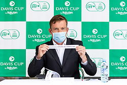 Jiri Adamovsky (ITF) at public draw for Davis Cup World Group II 1st Round between Slovenia and Paraguay at Hotel Slovenija, on September 16, 2021 in Portoroz / Portorose, Slovenia. Photo by Matic Klansek Velej / Sportida