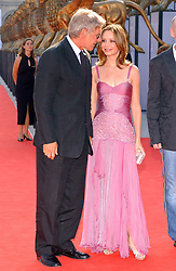 """File photo : Calista Flockhart and Harrison Ford attend the screening of 'Fragile' at the 62nd Mostra Venice Film Festival. Venice, Italy, September 2nd, 2005. The 72-year-old, star of the Indiana Jones and Star Wars films, reported engine failure and crash-landed his vintage plane on a Venice golf course in Los Angeles. He was breathing and alert when medics arrived and took him to hospital in a """"fair to moderate"""" condition, a fire department spokesman said. Photo by Lionel Hahn/ABACAPRESS.COM  