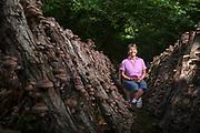 Carol Ann Rose with Sweden Creek Farm in Kingston, Arkansas.<br /> Photo by Beth Hall