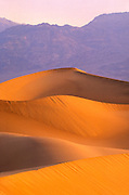 Dawn light on the Mesquite Flat Sand Dunes (Grapevine Mountains in background), Death Valley National Park, California
