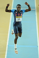 ATHLETICS - WORLD CHAMPIONSHIPS INDOOR 2012 - ISTANBUL (TUR) 09 to 11/03/2012 - PHOTO : STEPHANE KEMPINAIRE / KMSP / DPPI - <br /> TRIPLE JUMP - MEN - FINALE - GOLD MEDALE - WILL CLAY (USA)