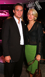 MR BEN HEWITT and LADY PORTIA AGAR at a party in London on 16th September 1999.MWK 15