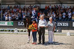 Cornelissen Adelinde, NED, Governor, breeder, Streppel<br /> World ChampionshipsYoung Dressage Horses<br /> Ermelo 2018<br /> © Hippo Foto - Dirk Caremans<br /> 05/08/2018