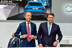 Germany, Neckarsulm - May 23, 2019.Annuan general meeting of Audi AG.Bram Schot and Herbert Diess  (Credit Image: © Sepp Spiegel/Ropi via ZUMA Press)