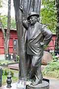 Grave of the Soviet Russian film actor Boris Brunov at Novodevichy Cemetery in Moscow, Russia