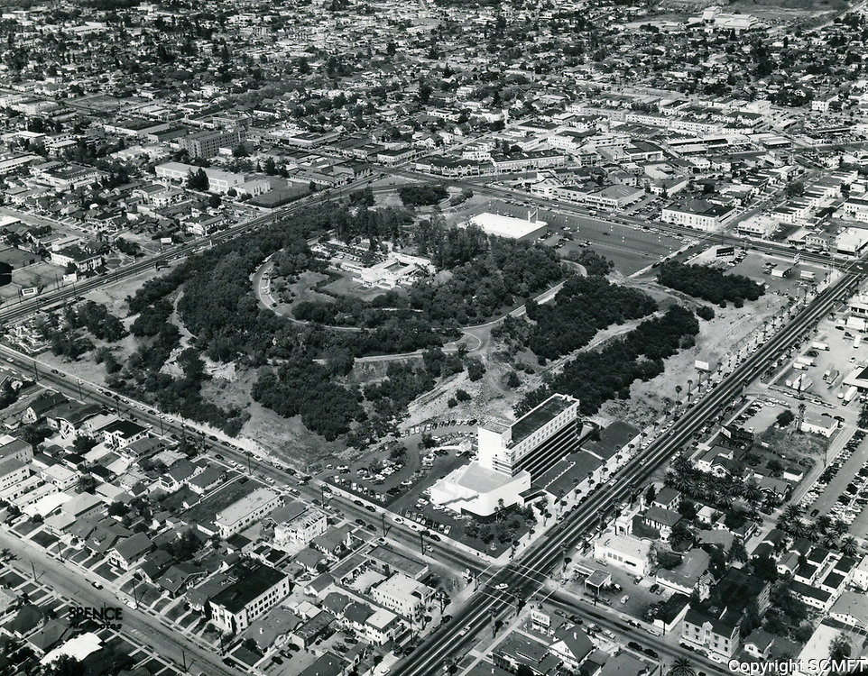 1954 Aerial photo of Barnsdall Park