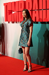 Danielle Copperman attending the Tomb Raider European Premiere held at Vue West End in Leicester Square, London.