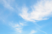 Light Cirrus clouds in blue sky