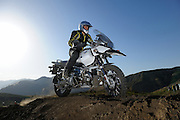 Rider from Alaska on BMW R1150GS competing at the 2009 Rawhyde Adventure Rider Challenge