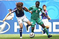 17.07.2010,  Augsburg, GER, FIFA U20 Womens Worldcup, Nigeria vs Japan,  im Bild Saki KUMAGAI  (Japan Nr.5) und Ebere ORJI (Nigeria Nr.8)  , EXPA Pictures © 2010, PhotoCredit: EXPA/ nph/  Straubmeier / SPORTIDA PHOTO AGENCY