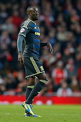 Albert Adomah of Middlesbrough looks frustrated - Photo mandatory by-line: Rogan Thomson/JMP - 07966 386802 - 15/02/2015 - SPORT - FOOTBALL - London, England - Emirates Stadium - Arsenal v Middlesbrough - FA Cup Fifth Round Proper.