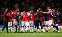 Photo: Richard Lane/Sportsbeat Images.<br />Arsenal v Newcastle United. Carling Cup. 25/09/2007. <br />Arsenal's young team celebrate victory.