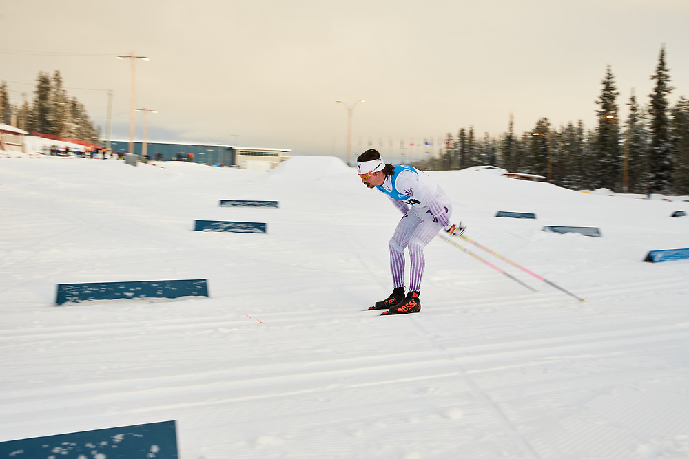 John Parry (Masters Men) skis during the 2020 Don Sumanik Ski Race (classic style) at the Mount McIntyre Recreation Centre, December 6, 2020.