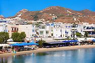 Naxos ( Chora ) town Saint Georges Beach . Greek Cyclades Islands Greece