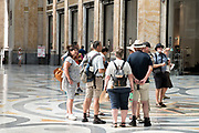 tourists in the center of the Galleria Umberto I arcade Naples Italy