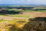 Nederland, Zeeland, Oosterschelde, 09-05-2013; inlagen ten zuiden van Serooskerke. Landinwaarts zijn polders onder water gezet in het kader van Plan Tuureluur. Nationaal Park De Oosterschelde.<br /> Land between the inner (original) dike and the sea dike near Serooskerke. Inland polders are inundated under the nature development project Tureluur. luchtfoto (toeslag op standard tarieven);<br /> aerial photo (additional fee required);<br /> copyright foto/photo Siebe Swart.