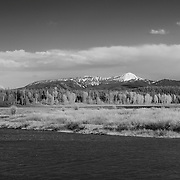 Oxbow Bend - South View, WY - Infrared Black & White