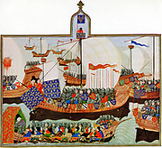 Joint French and English expedition setting out, at request of the Genoese, to battle with African corsairs (pirates) who were a threat to Genoese shipping 1390.