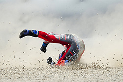 June 17, 2018 - Barcelona, Catalonia, Spain - The Italian rider, Andrea Dovizioso of Ducati Team, crash during the Catalunya Motorcycle Grand Prix at Circuit de Catalunya on June 17, 2018 in Barcelona, Spain. (Credit Image: © Joan Cros/NurPhoto via ZUMA Press)
