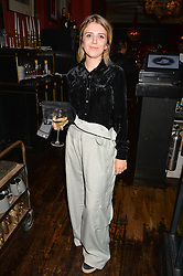 Georgia Davies at the John Stoddart Exhibition at L'Escargot, Greek Street, London, UK on the 26th September 2017.