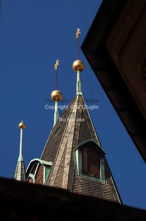 Czech Republic, Prague, Stare Mersto, Praha 1,  tower of Town Hall building  from Michalska street