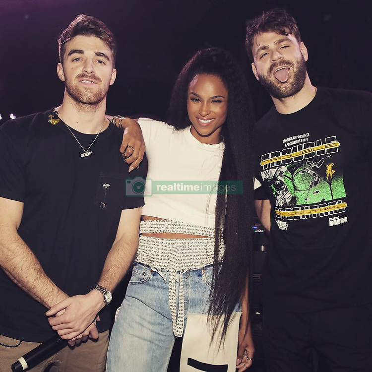 """Ciara releases a photo on Instagram with the following caption: """"So much fun performing #ThinkinBoutYou last night with @TheChainSmokers. Too Lit \ud83e\udd18\ud83c\udffd"""". Photo Credit: Instagram *** No USA Distribution *** For Editorial Use Only *** Not to be Published in Books or Photo Books ***  Please note: Fees charged by the agency are for the agency's services only, and do not, nor are they intended to, convey to the user any ownership of Copyright or License in the material. The agency does not claim any ownership including but not limited to Copyright or License in the attached material. By publishing this material you expressly agree to indemnify and to hold the agency and its directors, shareholders and employees harmless from any loss, claims, damages, demands, expenses (including legal fees), or any causes of action or allegation against the agency arising out of or connected in any way with publication of the material."""