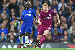 September 30, 2017 - London, England, United Kingdom - Manchester City midfielder Kevin de Bruyne (17) clears from Chelsea Midfielder Ngolo Kante (7) during the Premier League match between Chelsea and Manchester City  at Stamford Bridge, London, England on 30 Sept 2016. (Credit Image: © Kieran Galvin/NurPhoto via ZUMA Press)