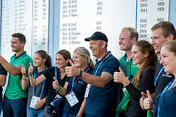 Ijsbrand Chardon and his team<br /> CHIO Aachen 2021<br /> © Hippo Foto - Sharon Vandeput<br /> 19/09/21