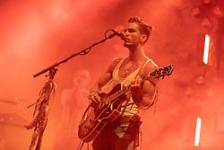 June 30, 2018 - Milwaukee, Wisconsin, U.S - JJ JULIUS SON of Kaleo performs live at Henry Maier Festival Park during Summerfest in Milwaukee, Wisconsin (Credit Image: © Daniel DeSlover via ZUMA Wire)