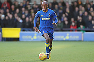 AFC Wimbledon midfielder Jimmy Abdou (8) dribbling during the EFL Sky Bet League 1 match between AFC Wimbledon and Southend United at the Cherry Red Records Stadium, Kingston, England on 1 January 2018. Photo by Matthew Redman.