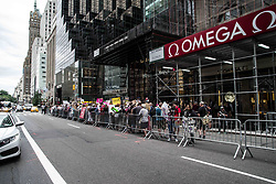 July 29, 2017 - New York, New York, United States - (photo: Sachelle Babbar) New Yorkers protested at the Trump Tower against the efforts by the Trump Administration and the Republicans to dismantle the Affordable Healthcare Act, also known as Obamacare.  Several hundred assembled under the name ''March for Our Lives'' and the organizer was a group known as ''Americans Against Trump''.  Despite the proposed bills having been defeated, the attacks are expected to continue. (Credit Image: © Sachelle Babbar via ZUMA Wire)