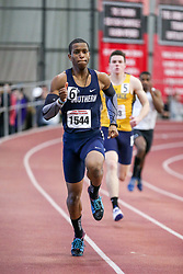 mens 400 meters, heat 3, Southern Conn St, Green<br /> BU John Terrier Classic <br /> Indoor Track & Field Meet <br /> day 2