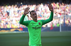 August 15, 2018 - Barcelona, Spain - Marc Andre Ter Stegen during the presentation of the team 2018-19 before the match between FC Barcelona and C.A. Boca Juniors, corresponding to the Joan Gamper trophy, played at the Camp Nou, on 15th August, 2018, in Barcelona, Spain. (Credit Image: © Joan Valls/NurPhoto via ZUMA Press)
