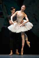 Alena Kovaleva, Xander Parish  at the rehearsal for the BALLET ICONS GALA 2020 evening of world class ballet celebrating the Russian Ballet School