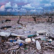 In Puerto Rico's Cabo Rojo, washed up trash and dead mangrove trees still dominate some areas almost three years after hurricane Maria in 2017.